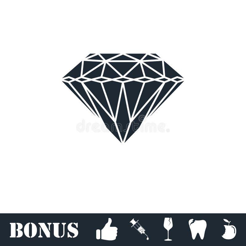 Diamantsymbolsl?genhet royaltyfri illustrationer