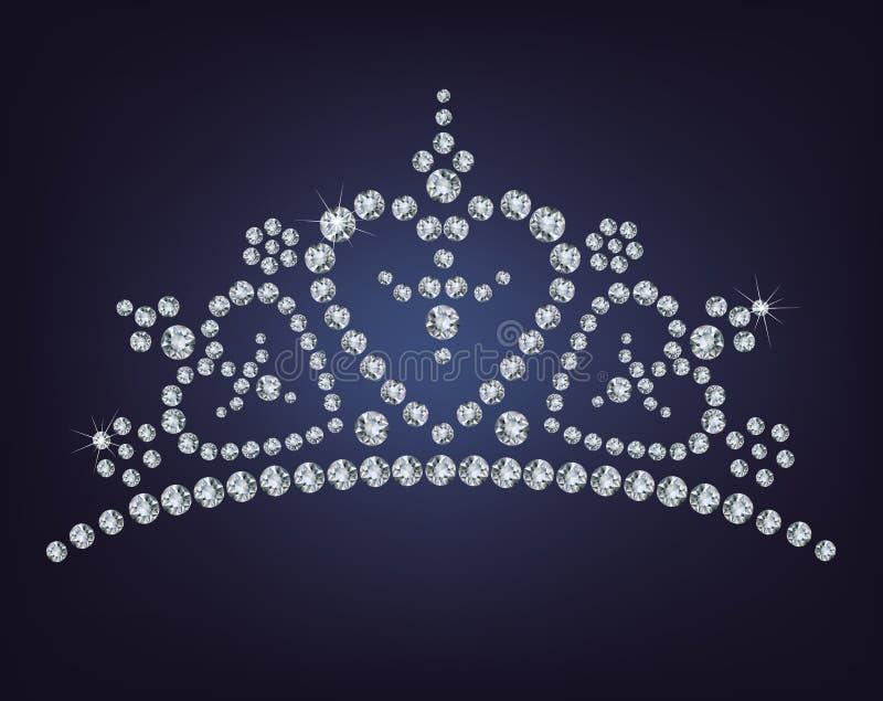 Diamanttiara royaltyfri illustrationer
