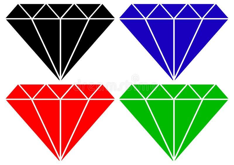 diamantvektor royaltyfri illustrationer