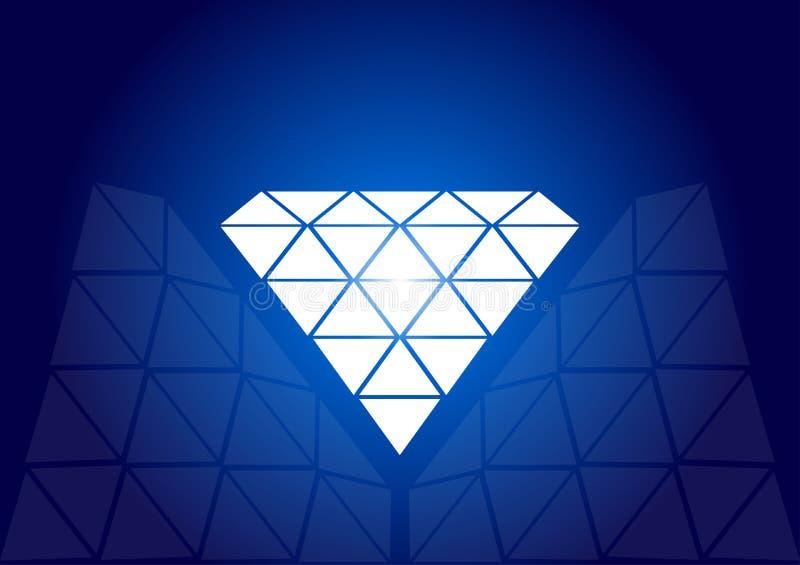 diamantvektor vektor illustrationer