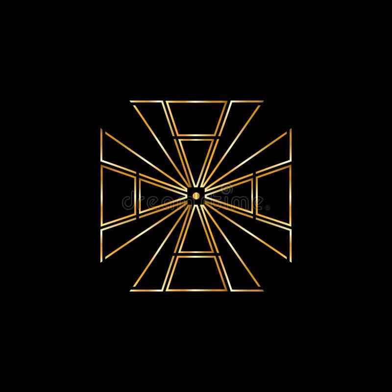Diamantvektorlogo Smyckenlogo Guldsmedemblem Lyxiga g?vor shoppar stock illustrationer
