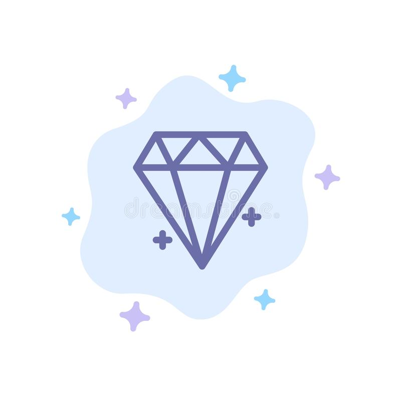 Diament, Ecommerce, biżuteria, Biżuteryjna Błękitna ikona na abstrakt chmury tle ilustracja wektor