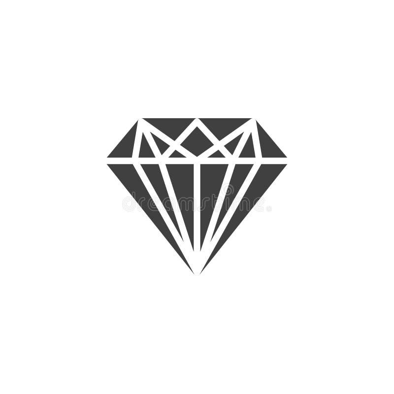 Diament, klejnotu kamienia wektoru ikona ilustracji
