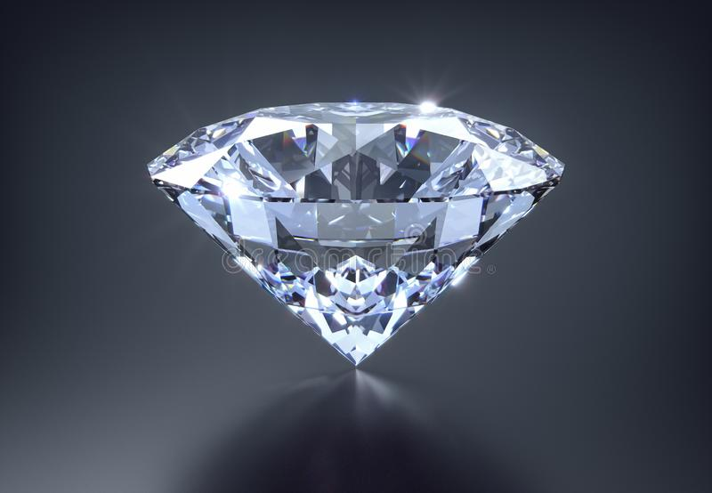 Diament na czarnym tle royalty ilustracja