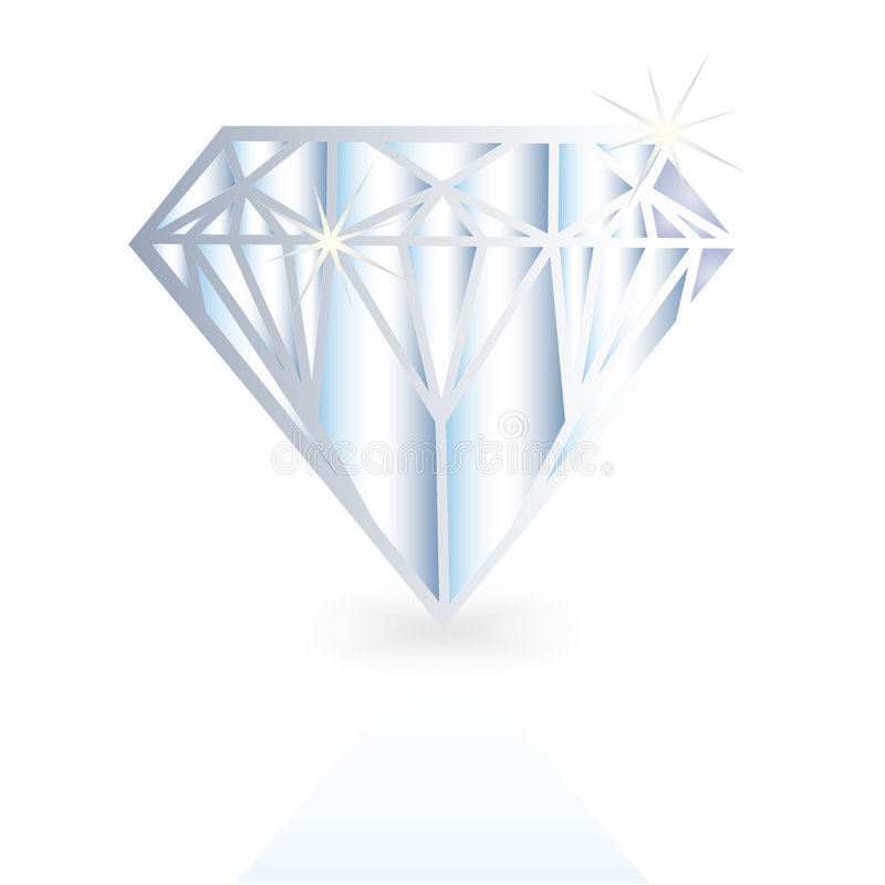Diament, wektorowa kryształ ilustracja ilustracja wektor
