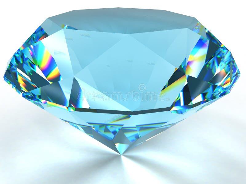 Diament z kaustycznym. ilustracji