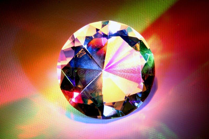 Diament z tęcza kolorami obrazy stock