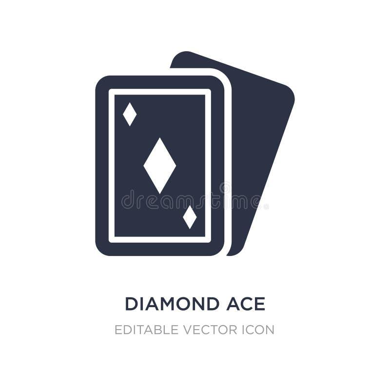 diamentowa as ikona na białym tle Prosta element ilustracja od rozrywki pojęcia royalty ilustracja