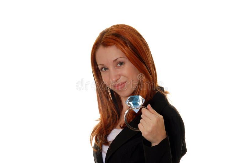 diamentowa dziewczyna ona zdjęcie stock