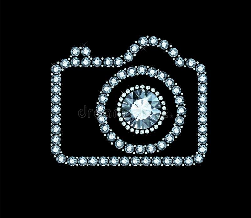 Diamentowa fotografii kamera royalty ilustracja