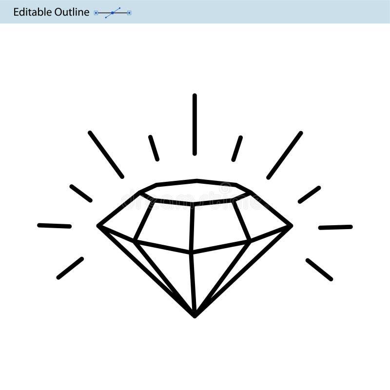 Diamentowa ikona, 7 gwiazdowa ocena, premia Znakomity Biznesowy występ, ilości usługa ilustracja wektor