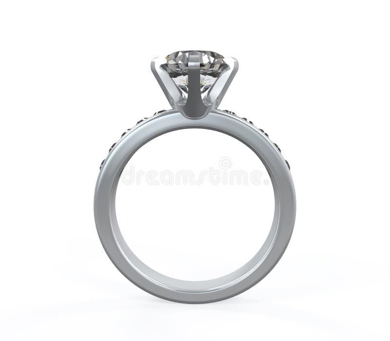 Diamentowa obrączka ślubna obraz stock