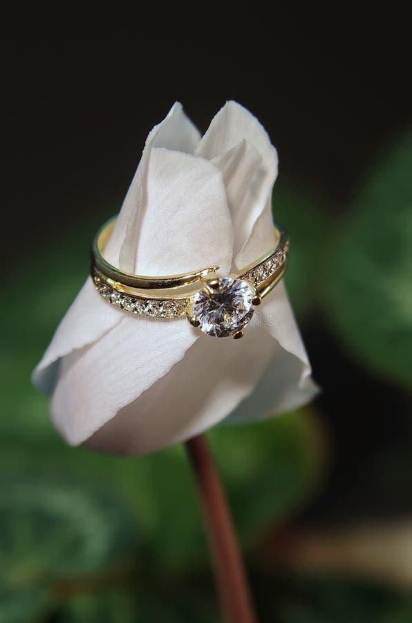 Diamentowa obrączka ślubna obrazy royalty free