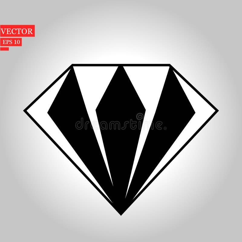 Diamentowa płaska ikona Pojedynczy wysokiej jakości konturu symbol ślub dla sieć projekta app lub wiszącej ozdoby Ciency kreskowi ilustracji