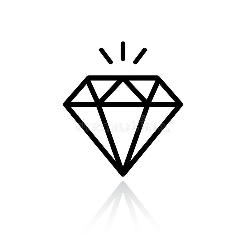 Diamentowa Wektorowa ikona royalty ilustracja