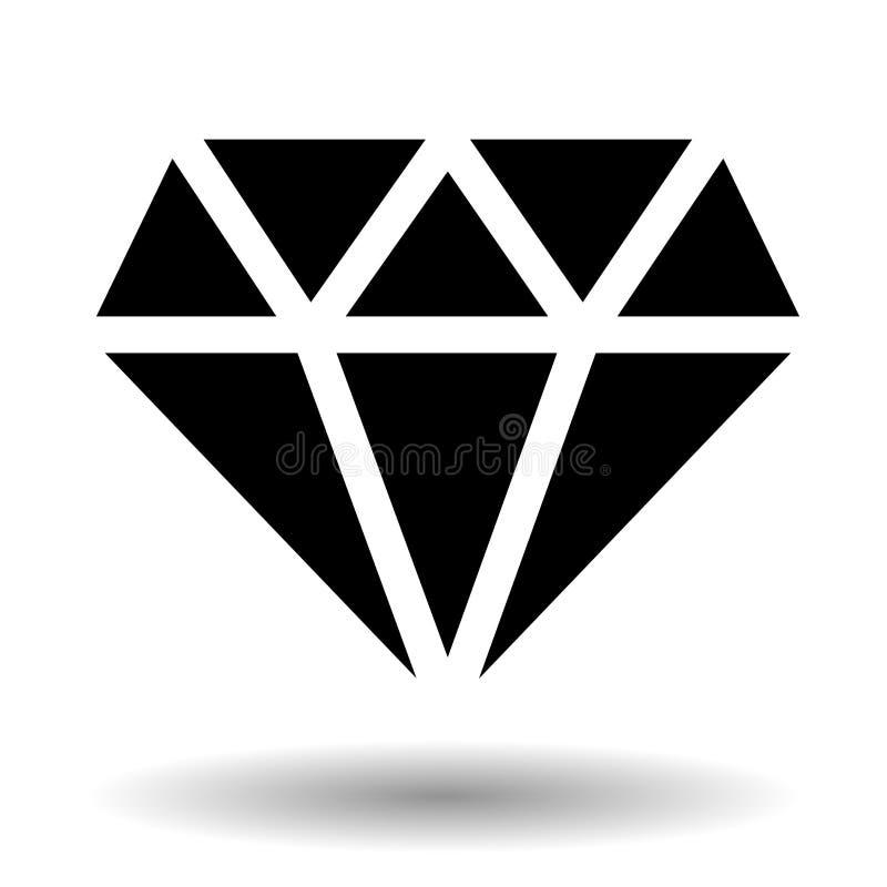 Diamentowa wektorowa ikona nad bielem ilustracja wektor