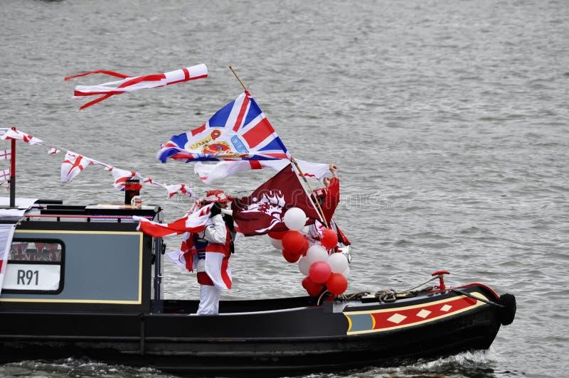 Diamentowego jubileuszu widowisko Thames