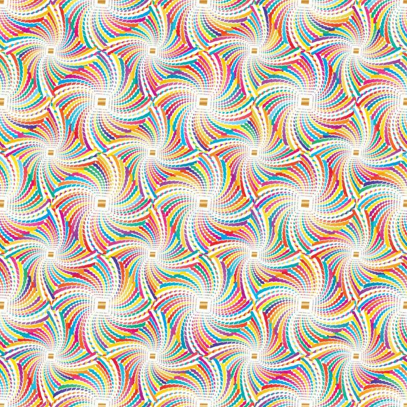 Diamentowego kształta pełnej strony kolorowy bezszwowy wzór ilustracja wektor