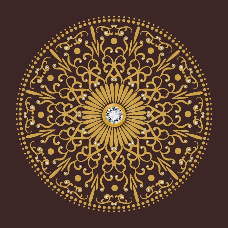 Diamentowego kwiatu okręgu tła luksusowy wektor royalty ilustracja