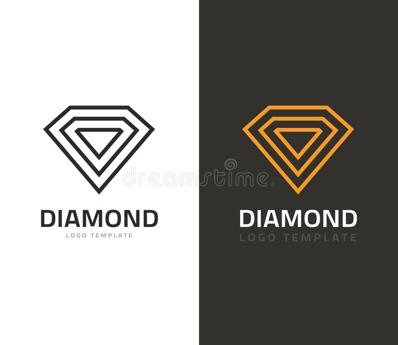 Diamentowego loga wektorowa ilustracja, biżuteryjna ikona, biżuteria gatunku znak geometryczny ilustracja wektor