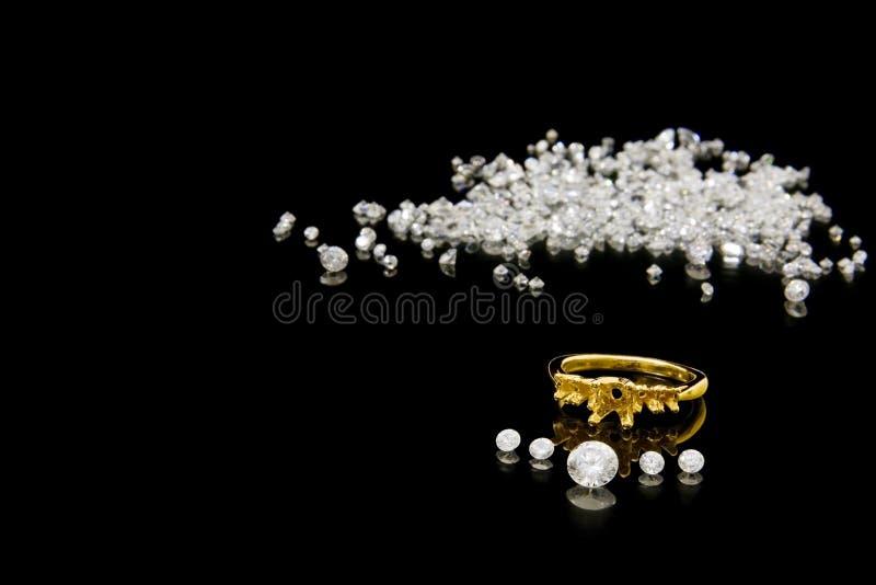 diamentowego pierścionku położenie obraz stock