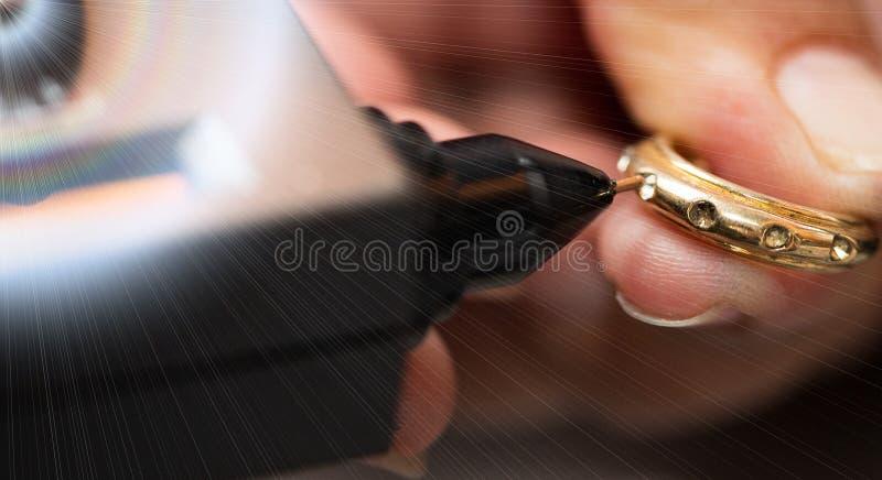Diamentowego testra Gemstone selekcjonera klejnotu DOWODZONY wskaźnik zdjęcia royalty free