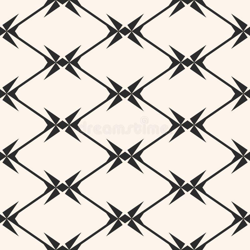 Diamentowej siatki bezszwowy wz?r Wektorowa geometryczna tekstura z rhombuses, sieć ilustracji