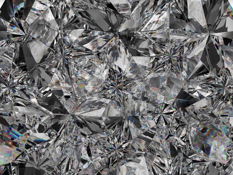 Diamentowej struktury krańcowy zbliżenie i kalejdoskop obrazy royalty free