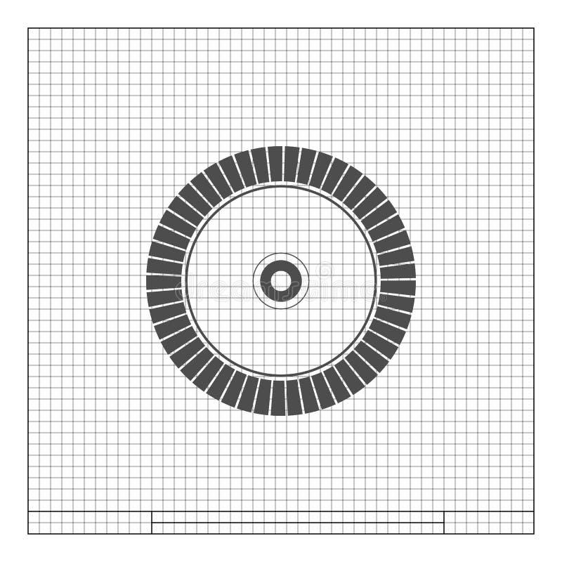 Diamentowy dysk dla betonowej tnącej ikony royalty ilustracja