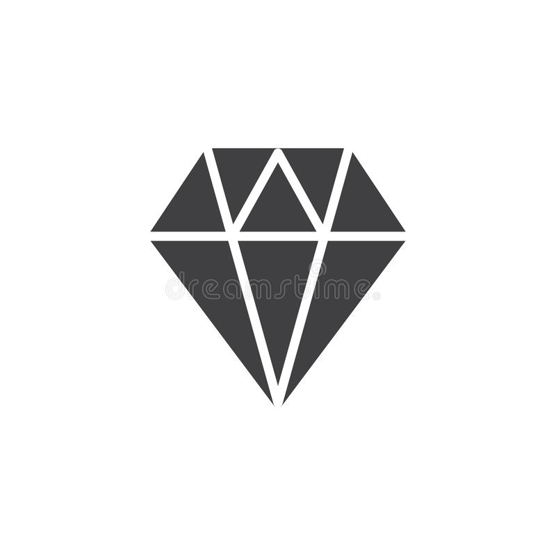 Diamentowy ikona wektor ilustracji