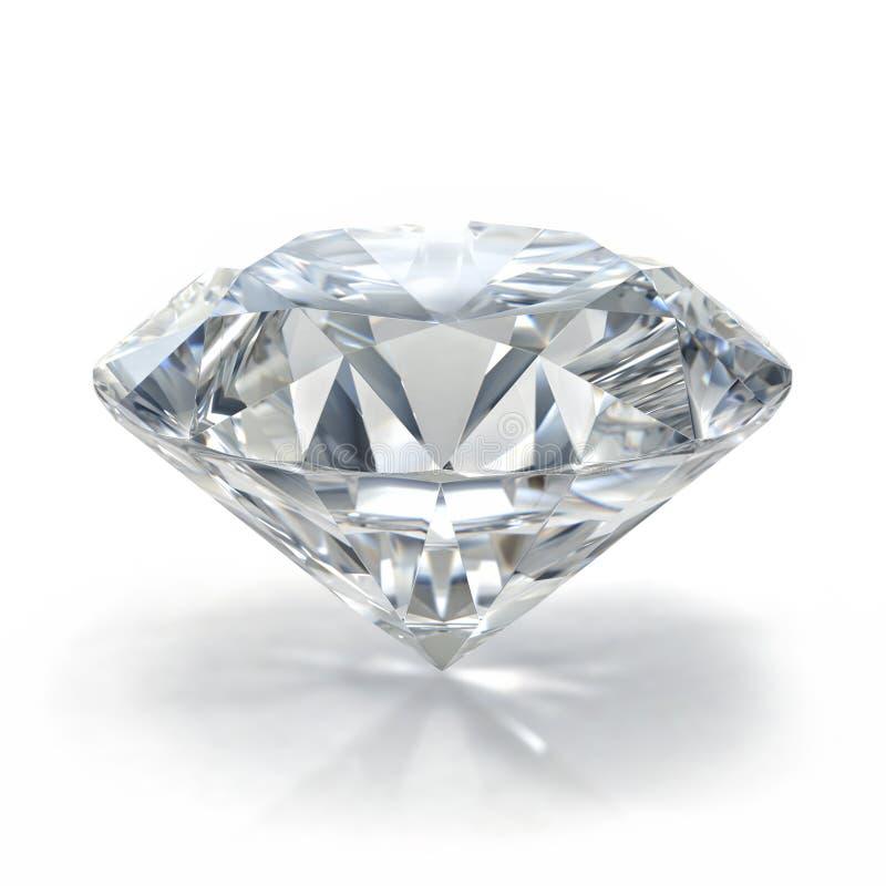 Diamentowy klejnot na białym tle fotografia royalty free