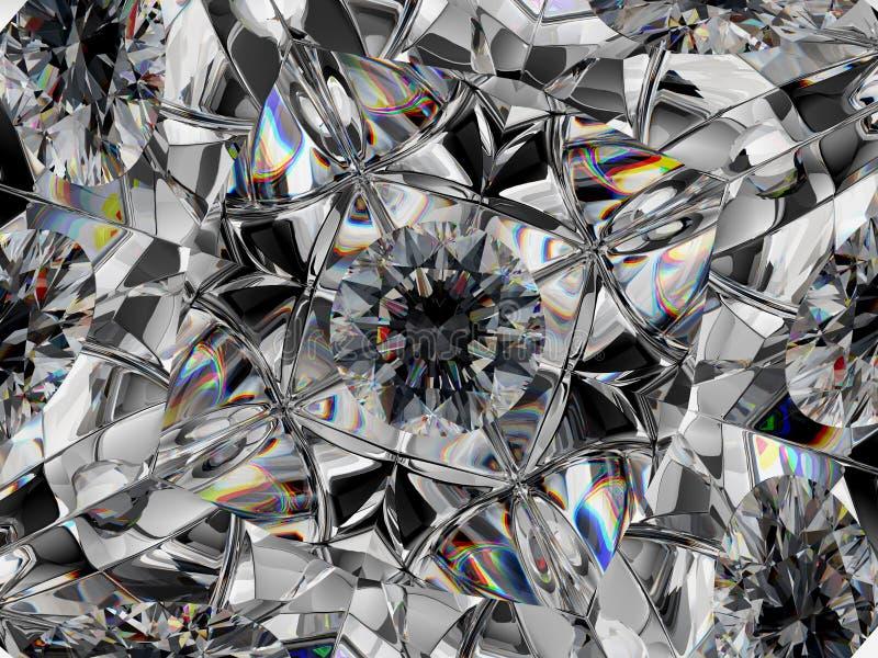 Diamentowy krańcowy zbliżenia i kalejdoskopu skutek zdjęcie royalty free