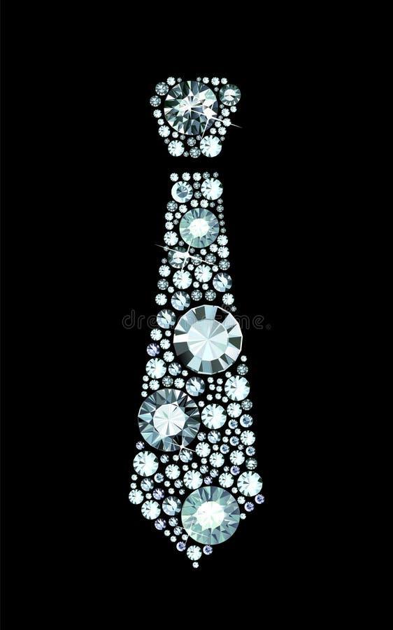 Diamentowy krawat royalty ilustracja