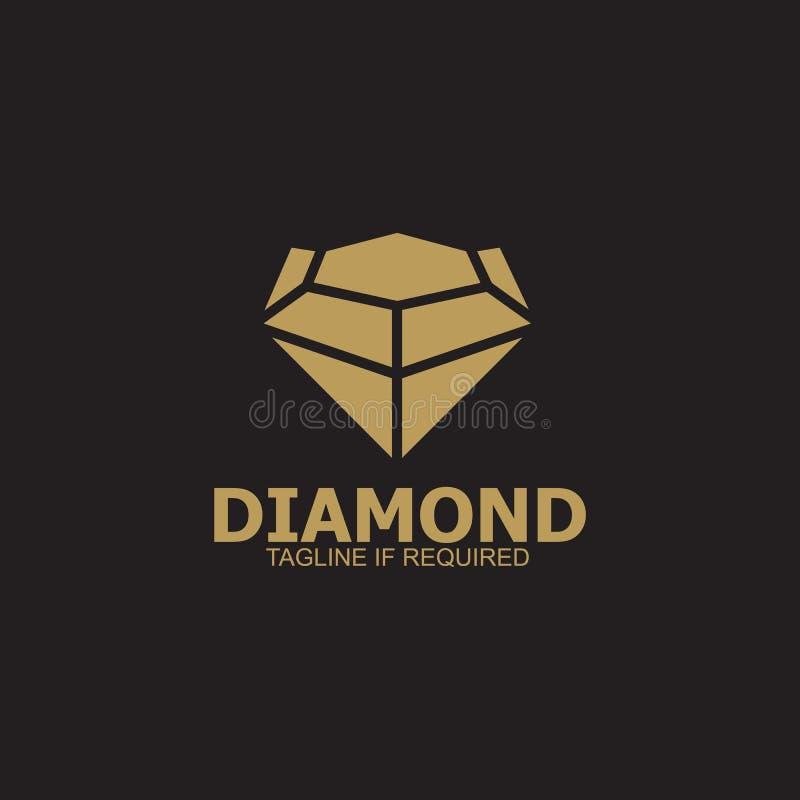 Diamentowy logo projekta wektoru szablon zdjęcie royalty free