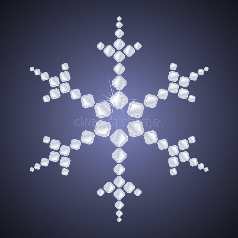 Diamentowy płatek śniegu ilustracji