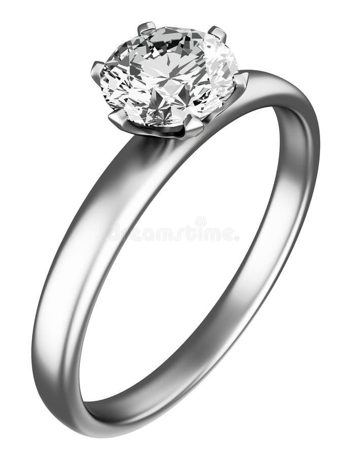 diamentowy pierścionek ilustracja wektor