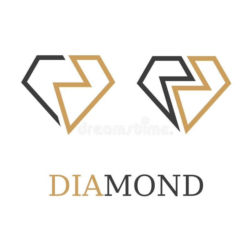 Diamentowy prosty symbolu wektor zdjęcie stock