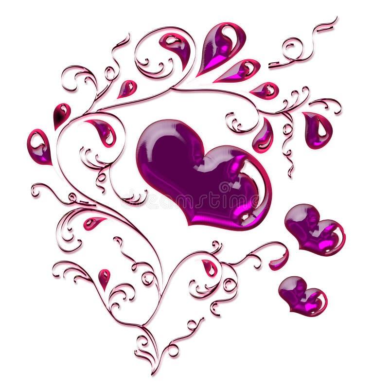 Diamentowy serce royalty ilustracja