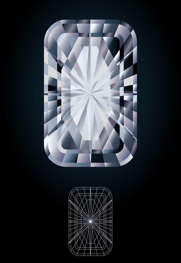 Diamentowy szmaragdowy klejnot ilustracja wektor