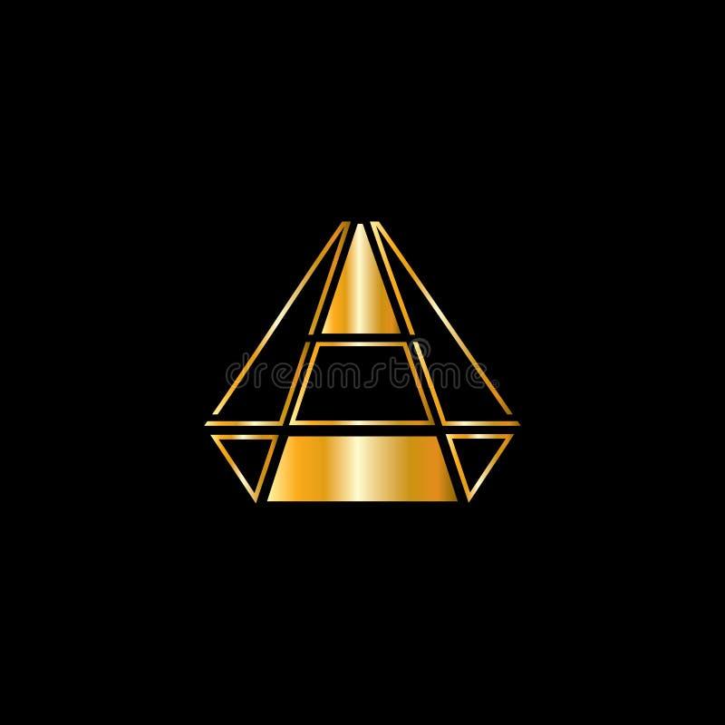 Diamentowy wektorowy logo Jewellery logo Z?otnika emblemat Luksusowy tera?niejszo?? sklep ilustracja wektor