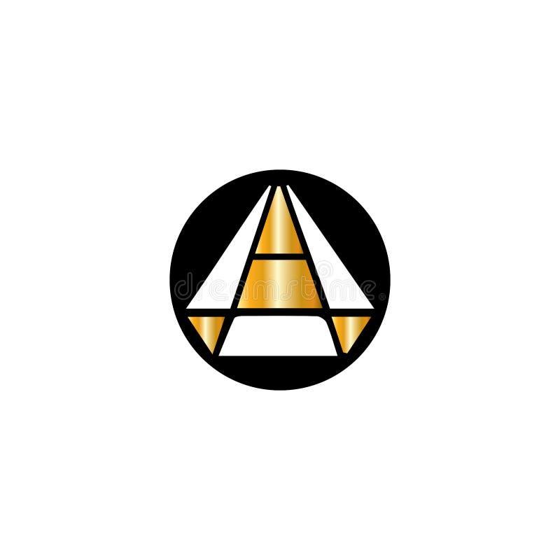 Diamentowy wektorowy logo Jewellery logo Z?otnika emblemat Luksusowy tera?niejszo?? sklep royalty ilustracja