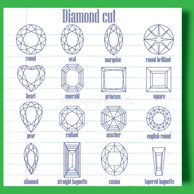 Diamentu cięcie royalty ilustracja