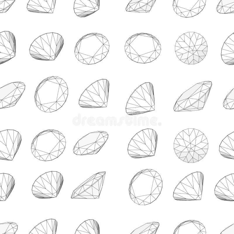 diamentu deseniowy bezszwowy również zwrócić corel ilustracji wektora ilustracji