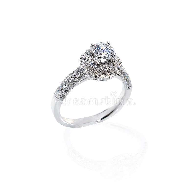 Diamentu prezent Ringowy ślubny fotografia royalty free
