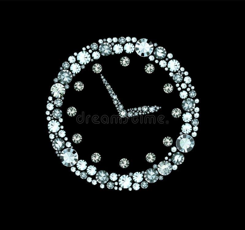 Diamentu zegar royalty ilustracja