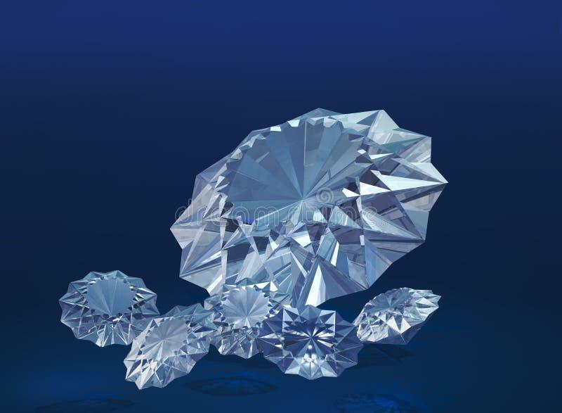 diamenty royalty ilustracja