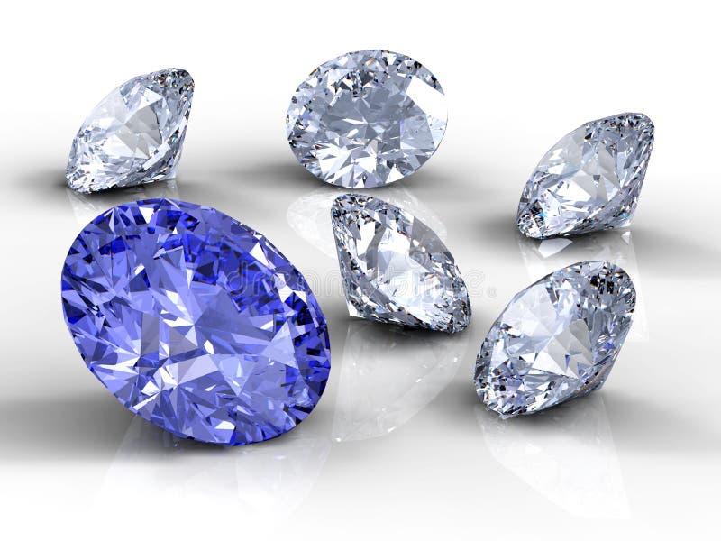 diamenty sześć