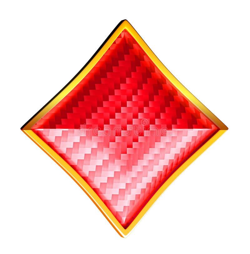 Diamenty textured karta kostiumy royalty ilustracja