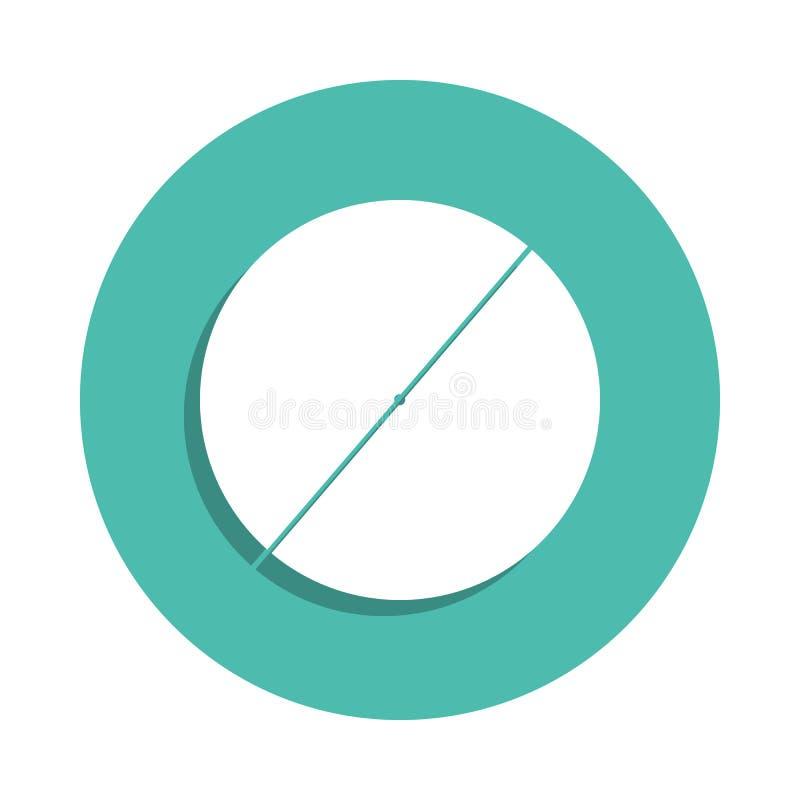 Diameter av en cirkelsymbol Beståndsdelar av det geometriska diagramet i emblemstilsymboler Enkel symbol för websites, rengörings vektor illustrationer