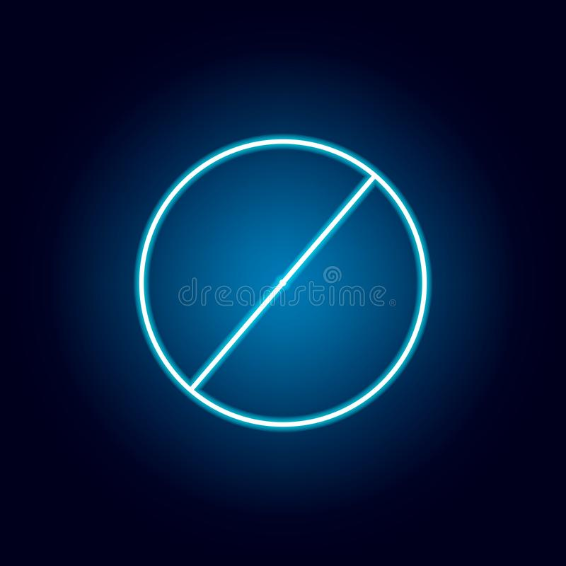 diameter av en cirkelsymbol i neonstil Geometriskt diagram best?ndsdel f?r mobila begrepps- och reng?ringsdukapps G?r linjen symb vektor illustrationer